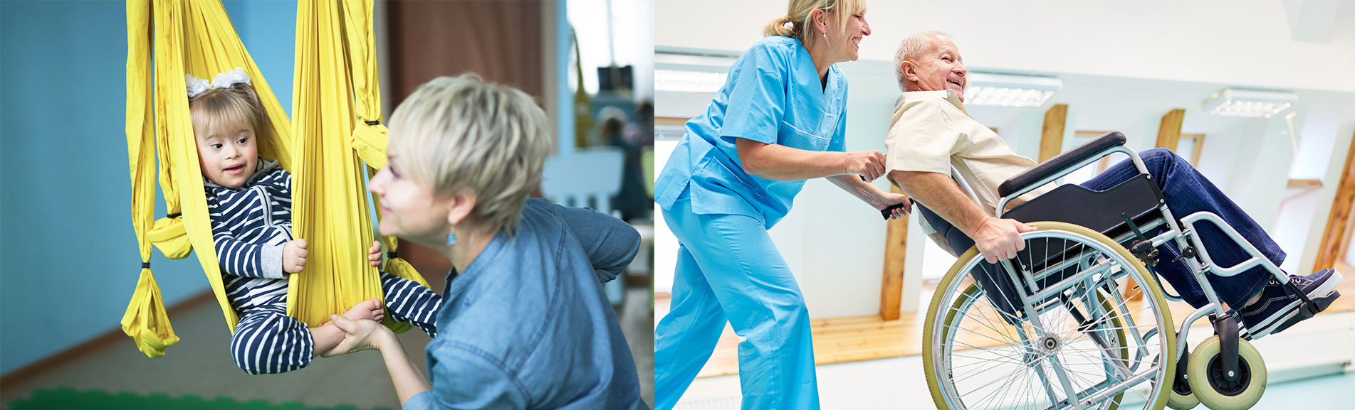 therapie mit körperlich oder geistig behinderten menschen